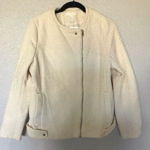 H&M Snap Asymmetrical Zipper Closure Jacket NWT